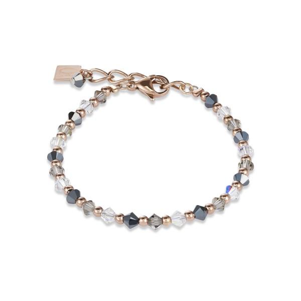 Armband Swarovski® Kristalle & Edelstahl roségold-grau