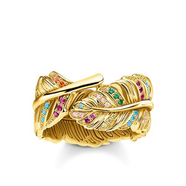 Ring Feder gold