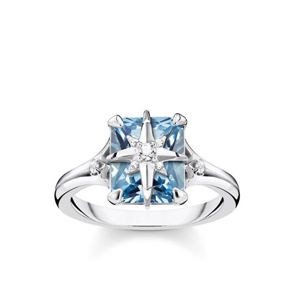 Ring blauer Stein mit Stern-Copy