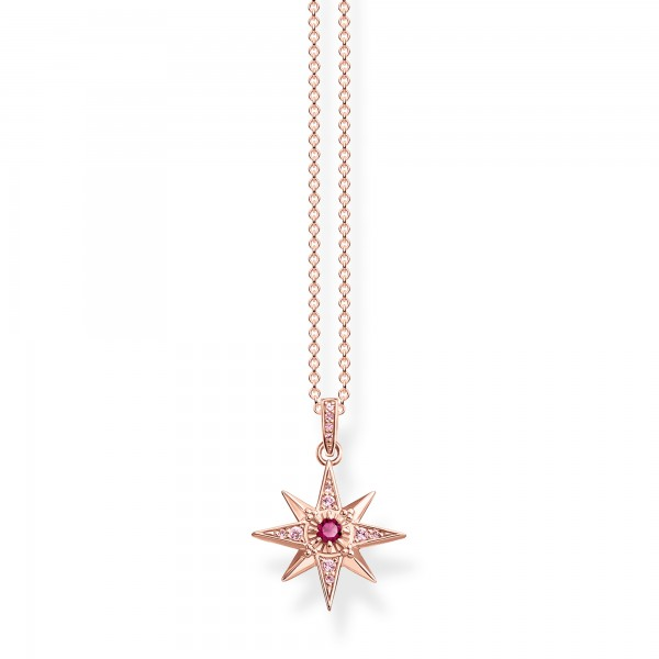 Halskette Stern rosé